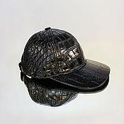 Аксессуары handmade. Livemaster - original item Baseball cap crocodile FERRERO. Handmade.
