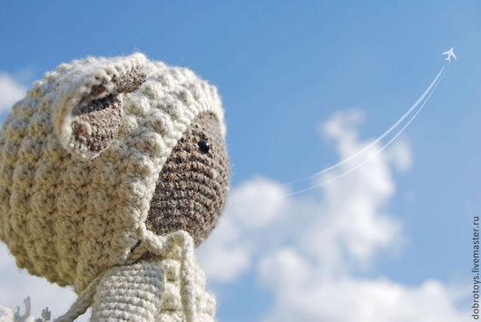 Игрушки животные, ручной работы. Ярмарка Мастеров - ручная работа. Купить Небо, самолет, ... овечка. Handmade. Серый, амигуруми, синтепон