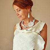 """Украшения handmade. Livemaster - original item Porcelain necklace """"Nephela"""", paper porcelain. Handmade."""