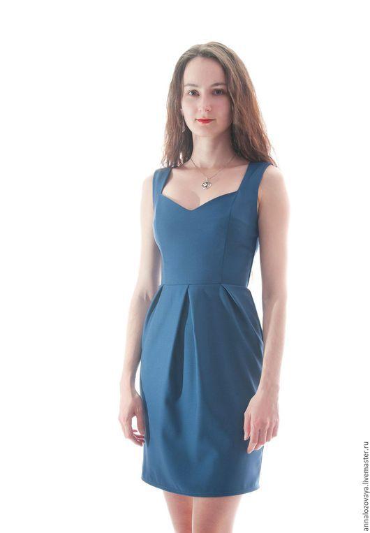 Платья ручной работы. Ярмарка Мастеров - ручная работа. Купить Платье 010. Handmade. Тёмно-синий, платье, Платье нарядное