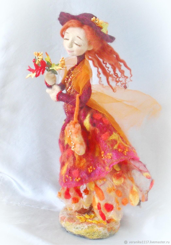 Леди Осень, Интерьерная кукла, Николаев,  Фото №1