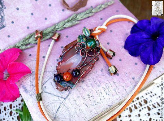 """Кулоны, подвески ручной работы. Ярмарка Мастеров - ручная работа. Купить Кулон """"Розовый закат"""" арт. 6066. Handmade."""