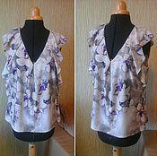 """Одежда ручной работы. Ярмарка Мастеров - ручная работа Блуза № 26 """"Лиловый лотос"""". Handmade."""