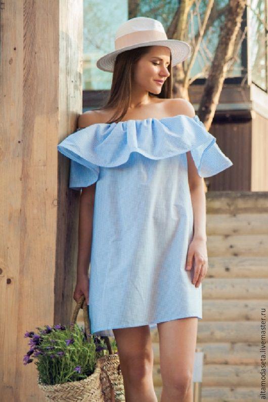 Платье из ткани шитье хлопок фото платья