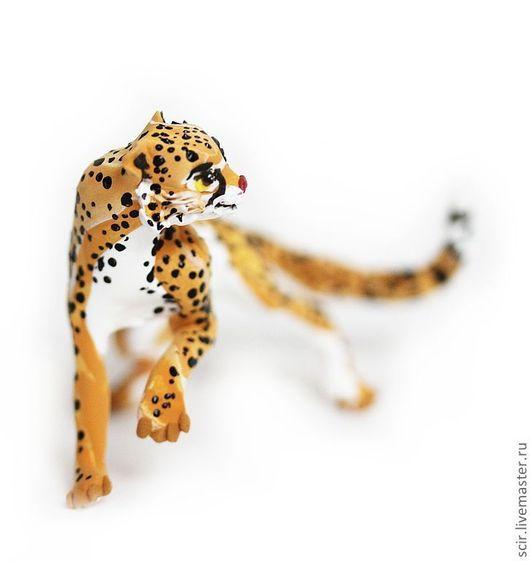 """Игрушки животные, ручной работы. Ярмарка Мастеров - ручная работа. Купить фигурка """"Гепард"""". Handmade. Гепард игрушка, гепард сувенир"""