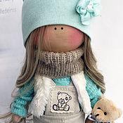 Куклы и игрушки ручной работы. Ярмарка Мастеров - ручная работа Мятная Кнопочка со съемной одеждой. Handmade.