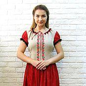 Одежда ручной работы. Ярмарка Мастеров - ручная работа Платье с вышивкой. Handmade.