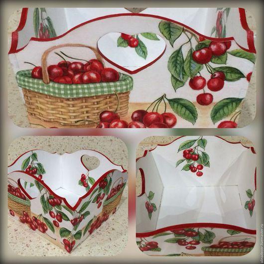 Кухня ручной работы. Ярмарка Мастеров - ручная работа. Купить Хлебница вишневая. Handmade. Комбинированный, короб для хранения, для дома и интерьера