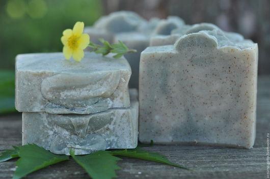 Мыло ручной работы. Ярмарка Мастеров - ручная работа. Купить Ветвь оливы, натуральное мыло-скраб с молотой оливковой косточкой. Handmade.