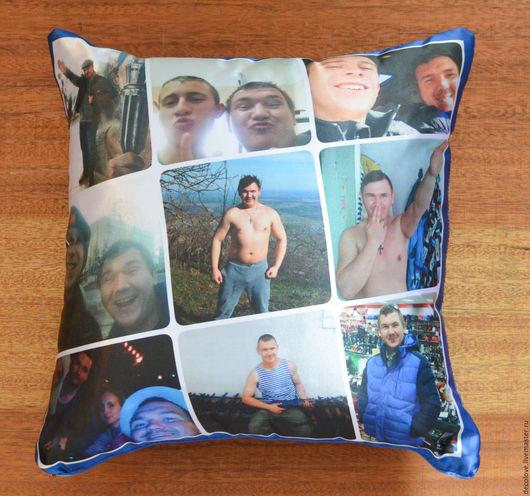 Подарки для мужчин, ручной работы. Ярмарка Мастеров - ручная работа. Купить Подушка с фото на подушке подарок мужчине на день рождения мужу. Handmade.