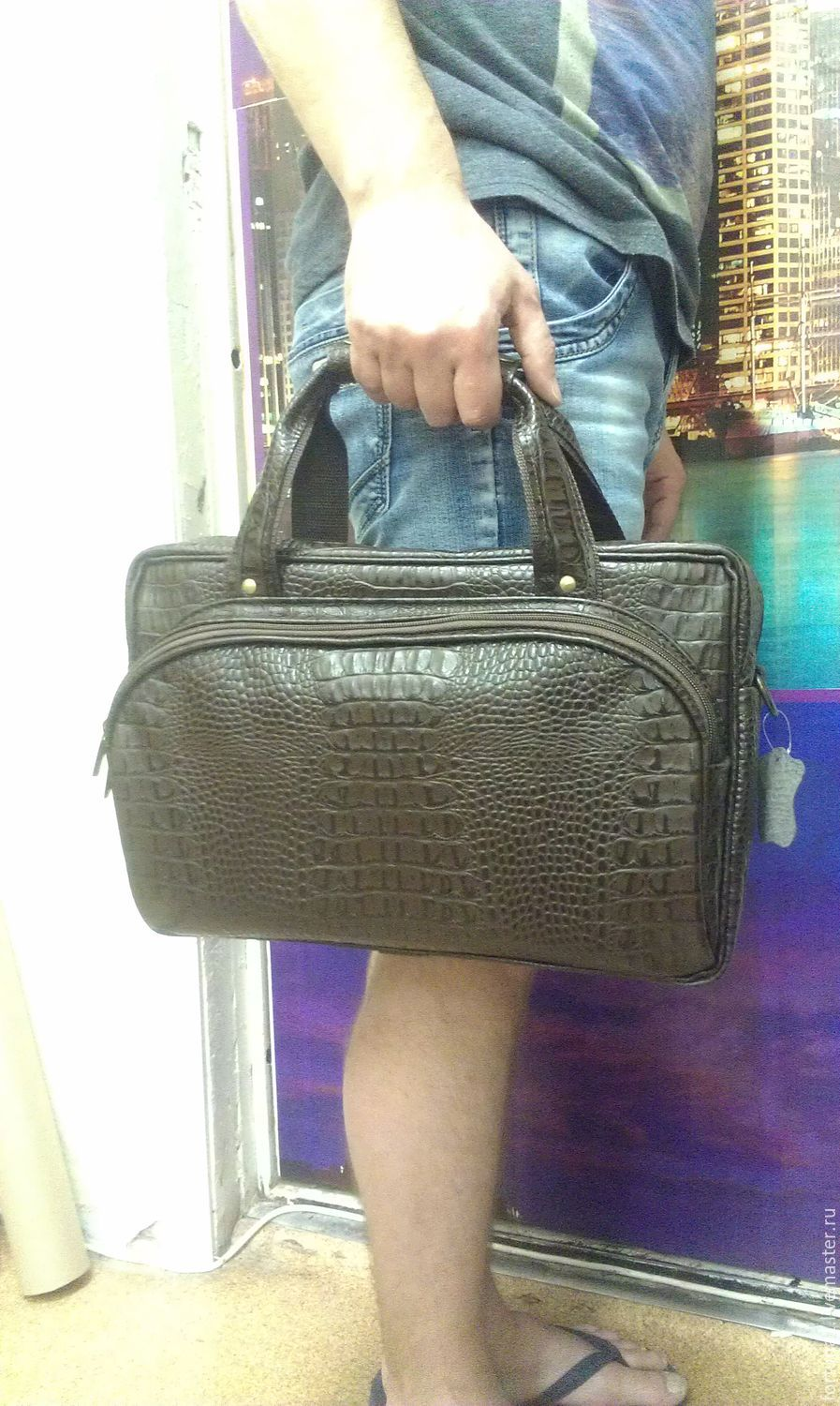 Bag leather office 189, Classic Bag, St. Petersburg,  Фото №1