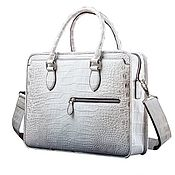Сумки и аксессуары handmade. Livemaster - original item Bag-briefcase made of Himalayan crocodile leather, in natural color.. Handmade.