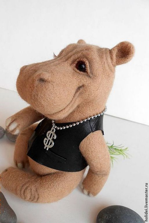 felted Hippo BRUNO, Felted Toy, Zelenograd,  Фото №1