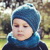 Работы для детей, ручной работы. Ярмарка Мастеров - ручная работа Комплект шапка сундук для мальчика или девочки. Handmade.