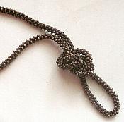 Украшения handmade. Livemaster - original item Braided harness-beads of wood. Handmade.