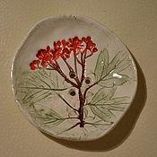 """Для дома и интерьера ручной работы. Ярмарка Мастеров - ручная работа Мыльница """"красные ягодки"""". Handmade."""