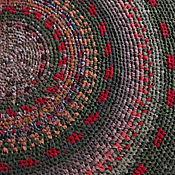 """Для дома и интерьера ручной работы. Ярмарка Мастеров - ручная работа Ковер текстильный """"Король Оранжевое поле"""" ПРОДАН. Handmade."""