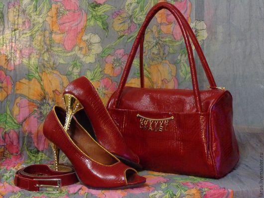 Обувь ручной работы. Ярмарка Мастеров - ручная работа. Купить летние босоножки. Handmade. Ярко-красный, босоножки летние