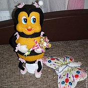 Куклы и игрушки ручной работы. Ярмарка Мастеров - ручная работа Пчелка Маша. Handmade.