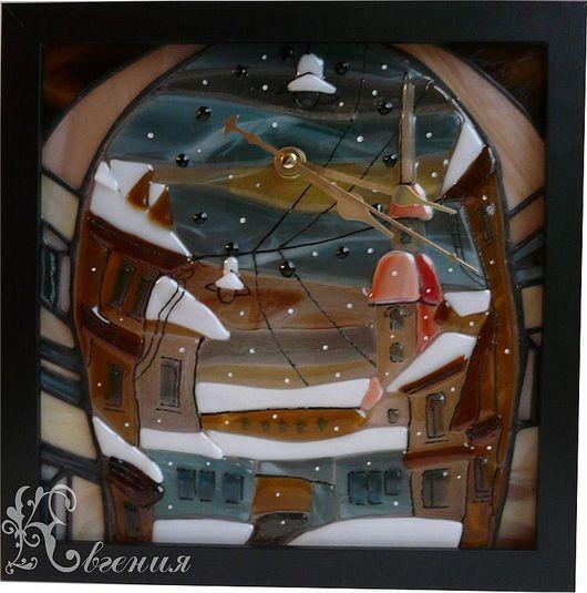 """Освещение ручной работы. Ярмарка Мастеров - ручная работа. Купить Панно """" Снег в Питере"""". Handmade. Декоративное панно"""