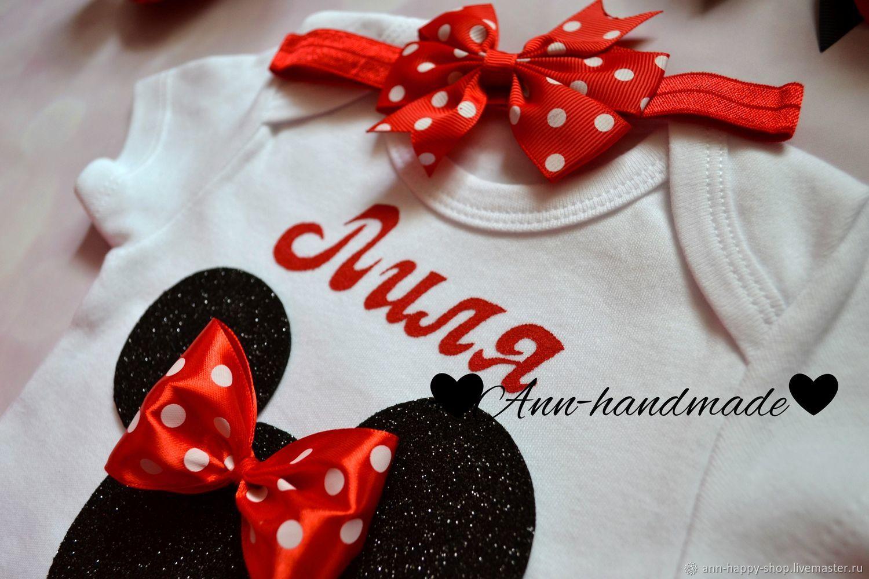 Наряд Минни Маус, комплект Микки Маус, именная футболка