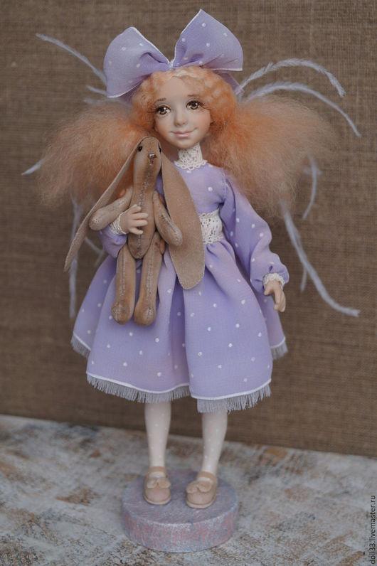 Коллекционные куклы ручной работы. Ярмарка Мастеров - ручная работа. Купить Ангелы играют. Наточка. Handmade. Сиреневый, малышка