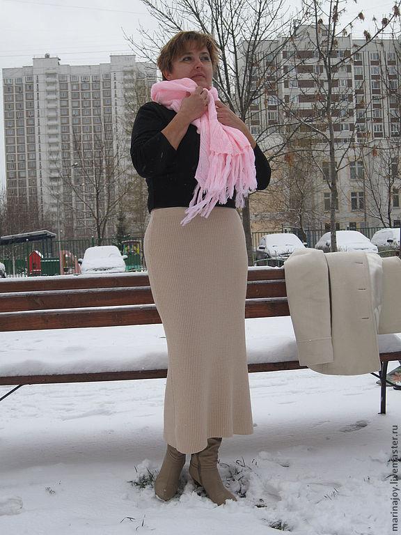 """Юбки ручной работы. Ярмарка Мастеров - ручная работа. Купить Юбка """"Зима пришла 2"""". Handmade. Машинное вязание"""