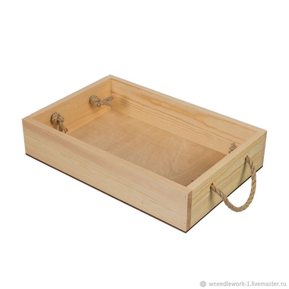 Деревянный ящик сосна 30 x 20 x 6 см, Коробки, Москва,  Фото №1