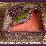 Для дома и интерьера ручной работы. Ярмарка Мастеров - ручная работа салфетница Первоцвет. Handmade.