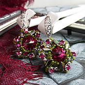 Украшения handmade. Livemaster - original item Light earrings with rhinestones