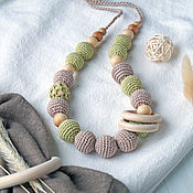 Одежда handmade. Livemaster - original item Slingobusy juniper. A gift for a newborn-Beige with green. Handmade.