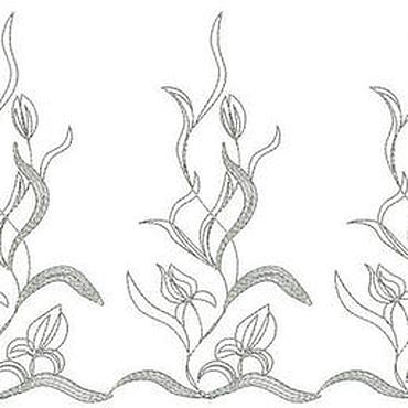 Материалы для творчества ручной работы. Ярмарка Мастеров - ручная работа фестоны, бордюр дизайн машинной вышивки. Handmade.