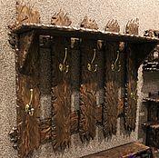 Для дома и интерьера handmade. Livemaster - original item Wall hanger made of solid wood. Handmade.