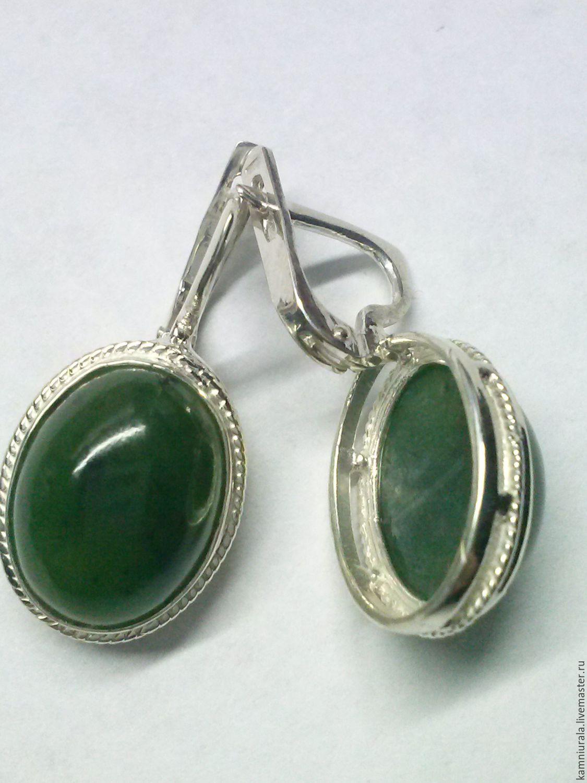 earrings jade, Earrings, Tomsk,  Фото №1
