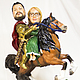 Подарки для влюбленных ручной работы. Ярмарка Мастеров - ручная работа. Купить Статуэтка по фото паре«Рыцарь и принцесса на коне» 40 см. Handmade.