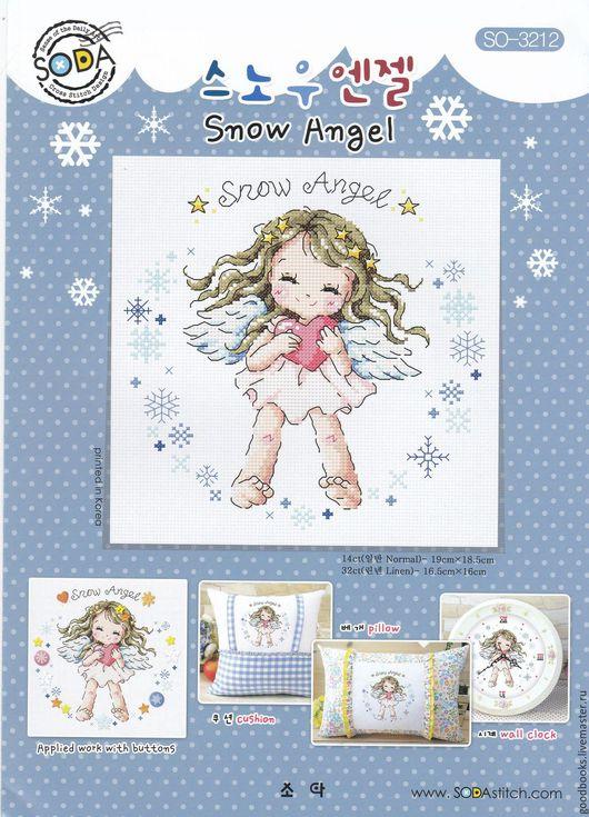 Вышивка ручной работы. Ярмарка Мастеров - ручная работа. Купить Схема для вышивки Soda Stitch Снежный ангел/Snow Angel (SO-3212). Handmade.