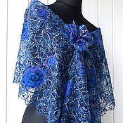 Аксессуары handmade. Livemaster - original item Karolewski blue -delicate tippet. Handmade.