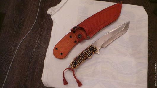 Подарки для мужчин, ручной работы. Ярмарка Мастеров - ручная работа. Купить Ножны. Handmade. Рыжий, ножны кожаные