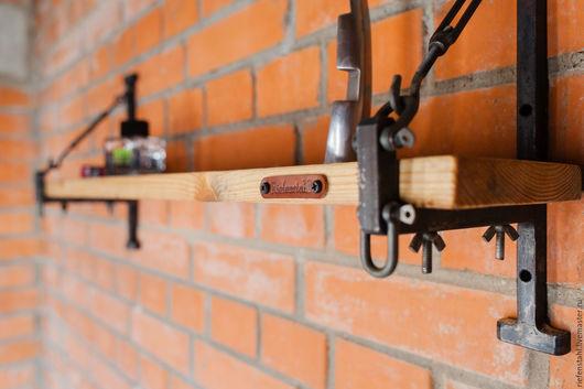 """Мебель ручной работы. Ярмарка Мастеров - ручная работа. Купить """"Industrial wall"""".Полка 1.. Handmade. Комбинированный, дерево"""