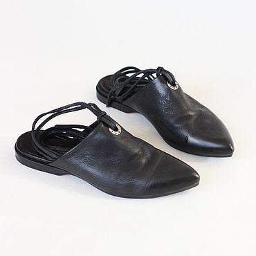 Обувь ручной работы. Ярмарка Мастеров - ручная работа Мюли с завязками. Handmade.