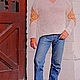 Пуловер «Витязь» из собачьей шерсти. Техника вязания – бесшовная технология  . Вязание крючком . Авторская ручная работа . Ручное прядение. Ручное вязание. 100% эксклюзивность и натуральность .