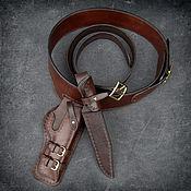 Сумки и аксессуары handmade. Livemaster - original item Belt with holster and scabbard for Colt 1911 mod.1. Handmade.