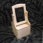 Материалы для творчества ручной работы. Ярмарка Мастеров - ручная работа Мини-комодик с зеркалом (33х15х14 см). Handmade.
