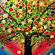 Фантазийные сюжеты ручной работы. Радужное дерево Картина на оргалите. Юлия-Yulitaya. Ярмарка Мастеров. Оргалит