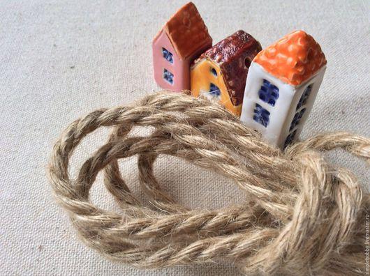 Шитье ручной работы. Ярмарка Мастеров - ручная работа. Купить Шнур джутовый. Handmade. Бежевый, лента декоративная, экологический, джут