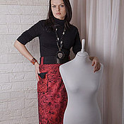 """Одежда ручной работы. Ярмарка Мастеров - ручная работа Юбка валяная """"Рубин"""". Handmade."""