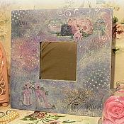 """Для дома и интерьера ручной работы. Ярмарка Мастеров - ручная работа Интерьерное зеркало """"Розовое очарование"""". Handmade."""