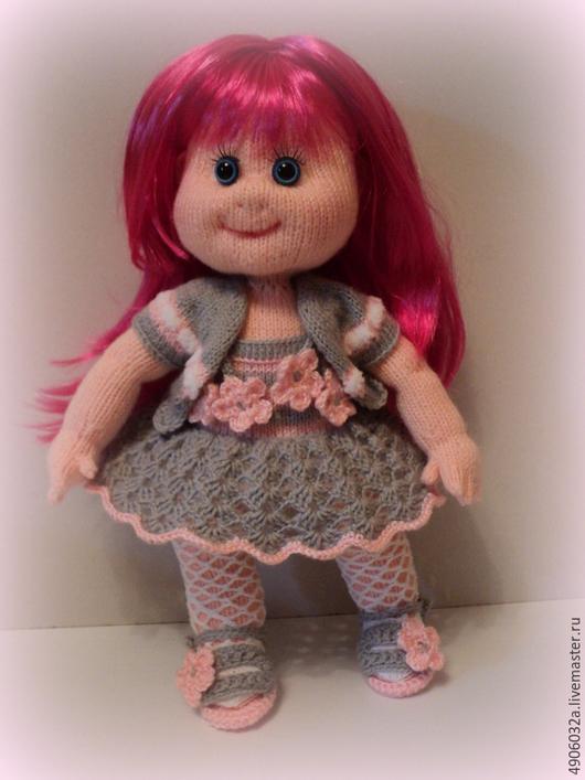Человечки ручной работы. Ярмарка Мастеров - ручная работа. Купить Вязаная кукла Лора.. Handmade. Серый, авторская кукла