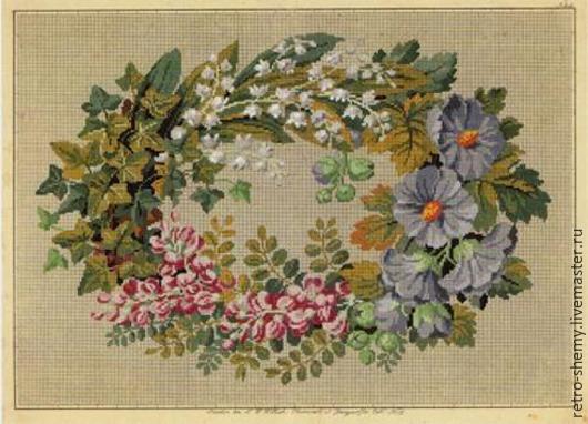 Вышивка трав крестиком