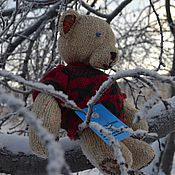 Куклы и игрушки ручной работы. Ярмарка Мастеров - ручная работа New! Медведь вязаный  Подарок ручной работы.. Handmade.
